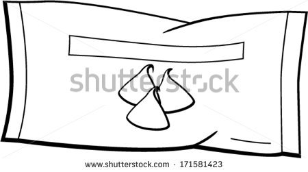 Chocolate Chips Bag Stock Vector 171581423.