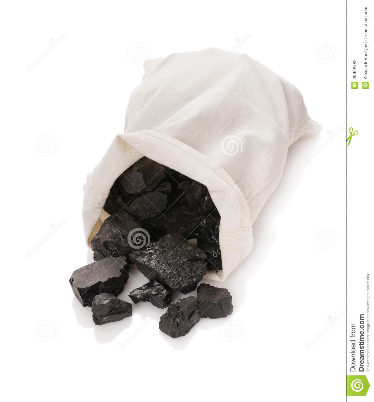 Coal In A Bag Stock Photos.