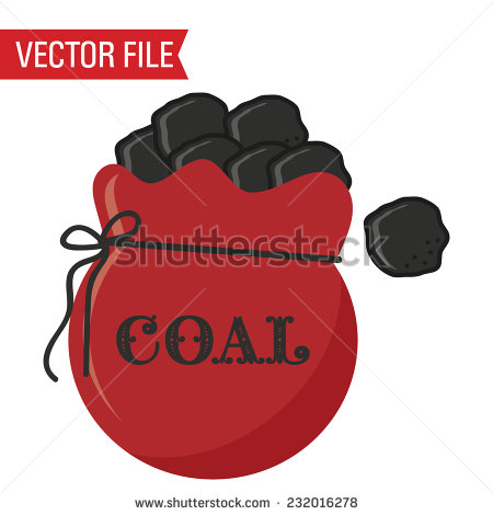 Christmas coal clipart.