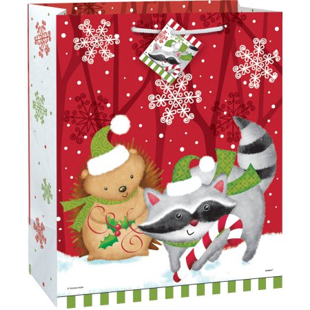 Large Woodland Christmas Gift Bag.