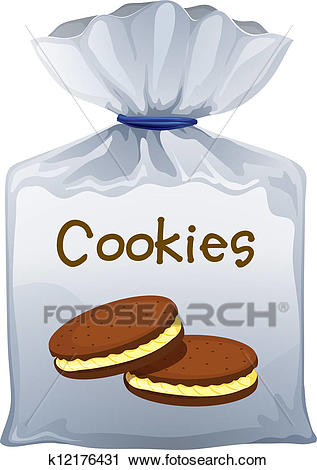 A pouch bag of cookies Clipart.