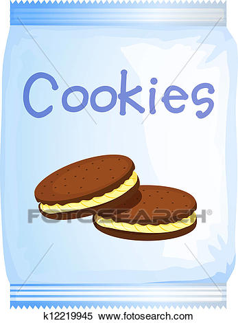 A pack of cookies Clipart.