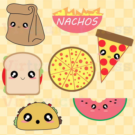 Cute Lunch Clipart.