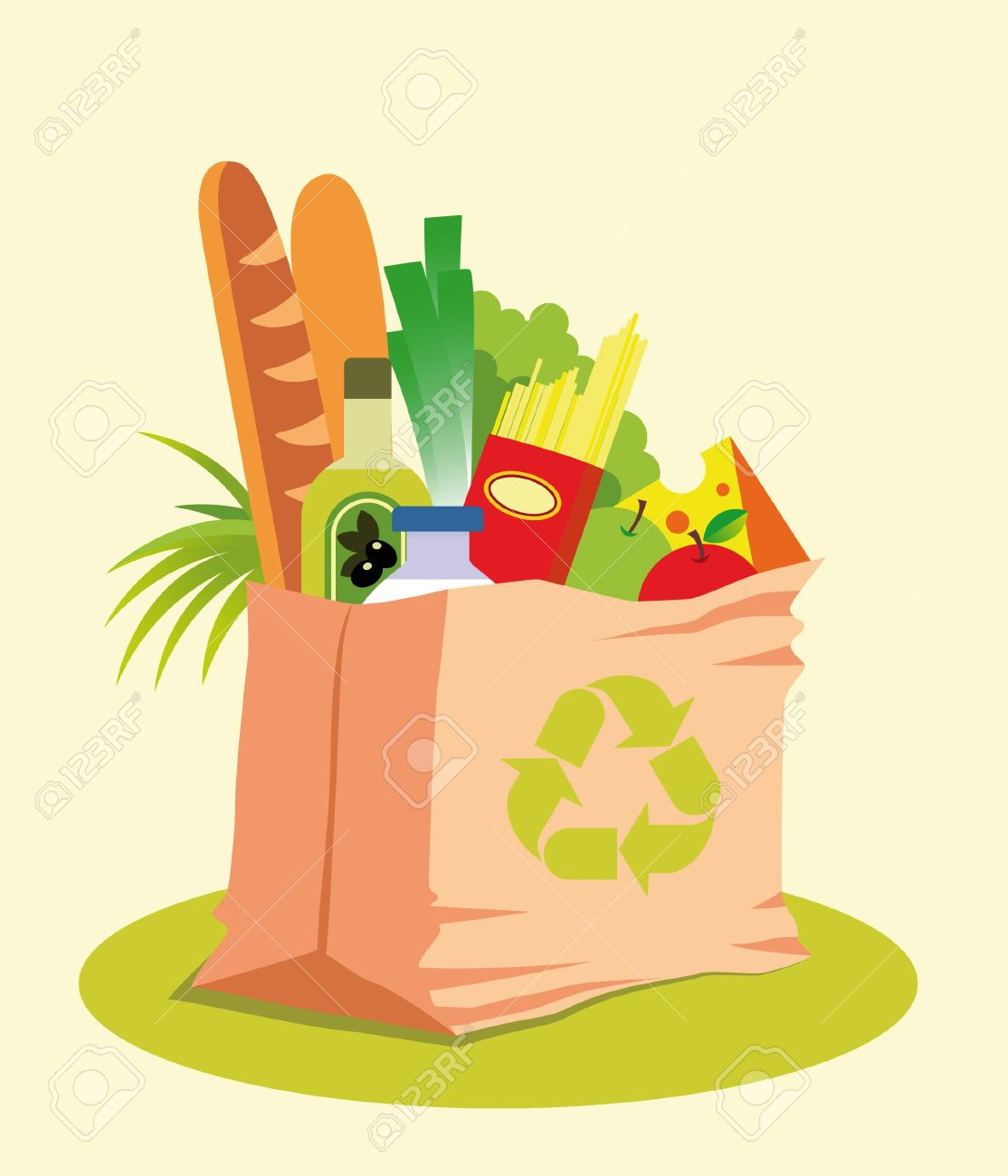 17,571 Food Bag Stock Vector Illustration And Royalty Free Food.