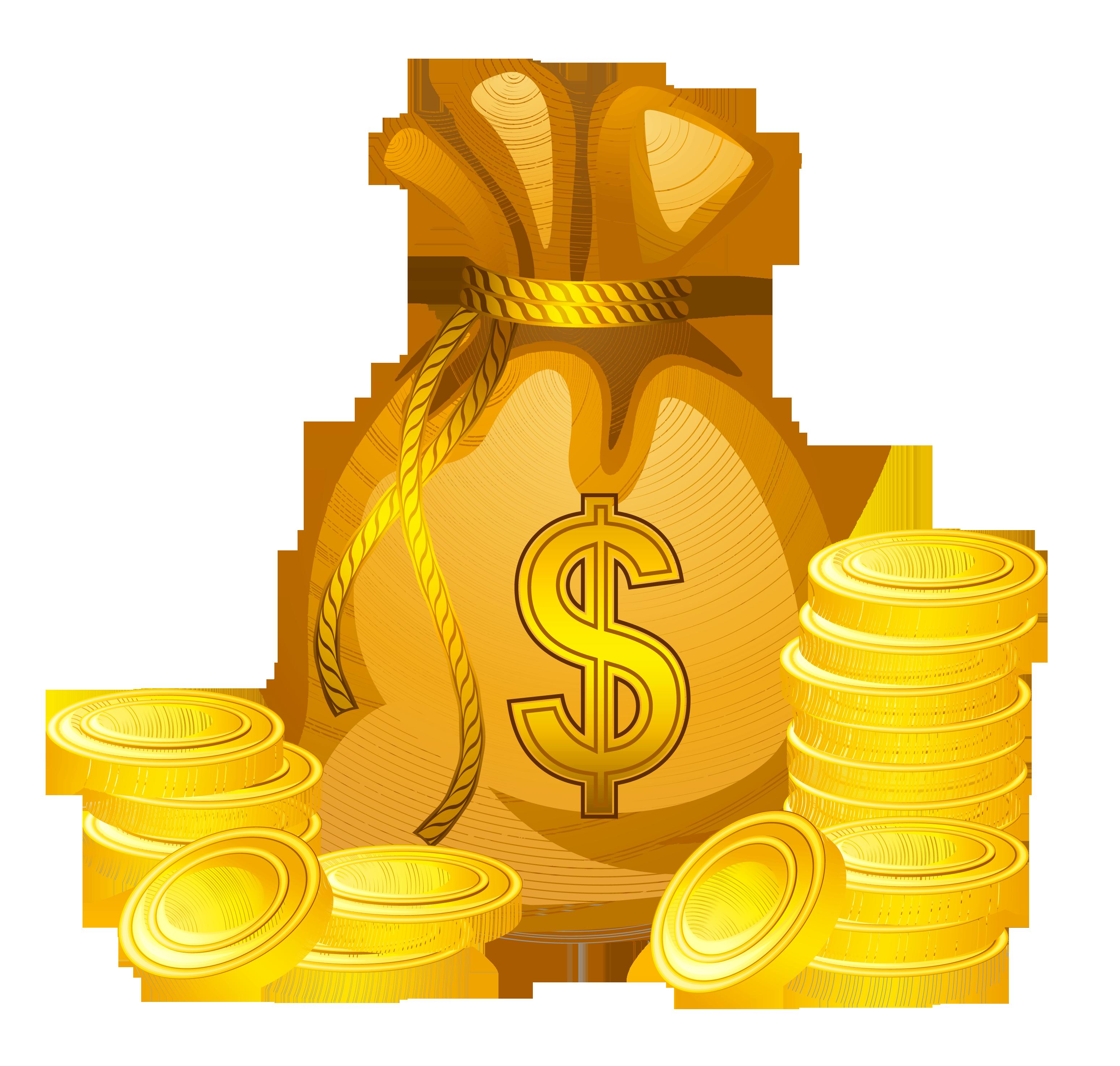 Transparent Money Bag Clip Art.