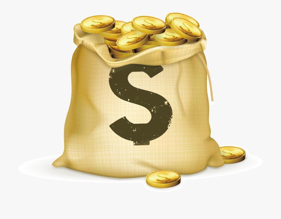 Coins Clipart Bag Full Money.