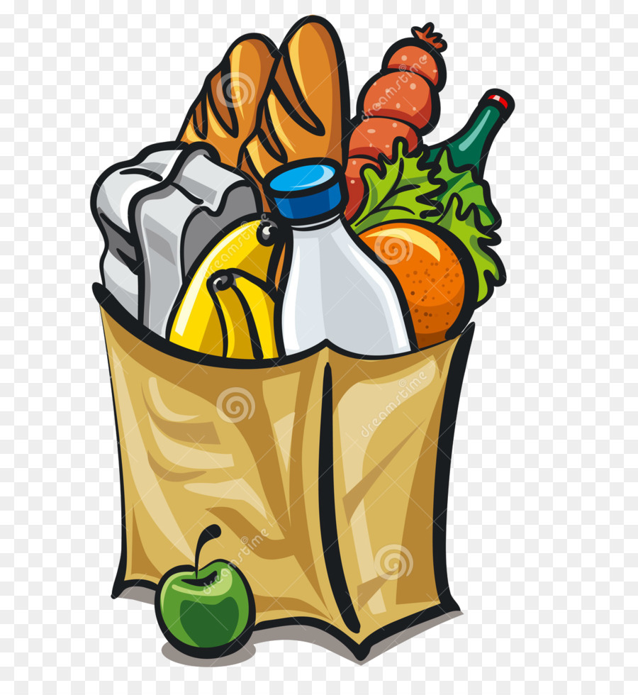 Collection of free Groceries clipart bag food. Download on.