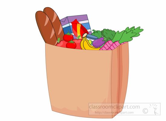 Grocery Bag Cartoon Images.