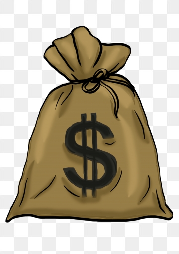 Money Bag PNG Images.