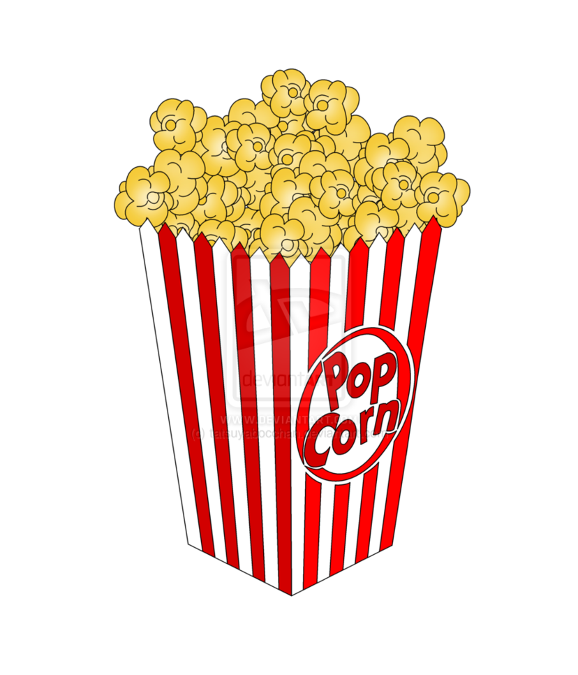 Bag Of Popcorn Free Clip Art.