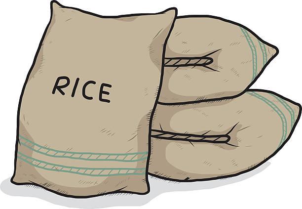 Best Rice Bag Illustrations, Royalty.