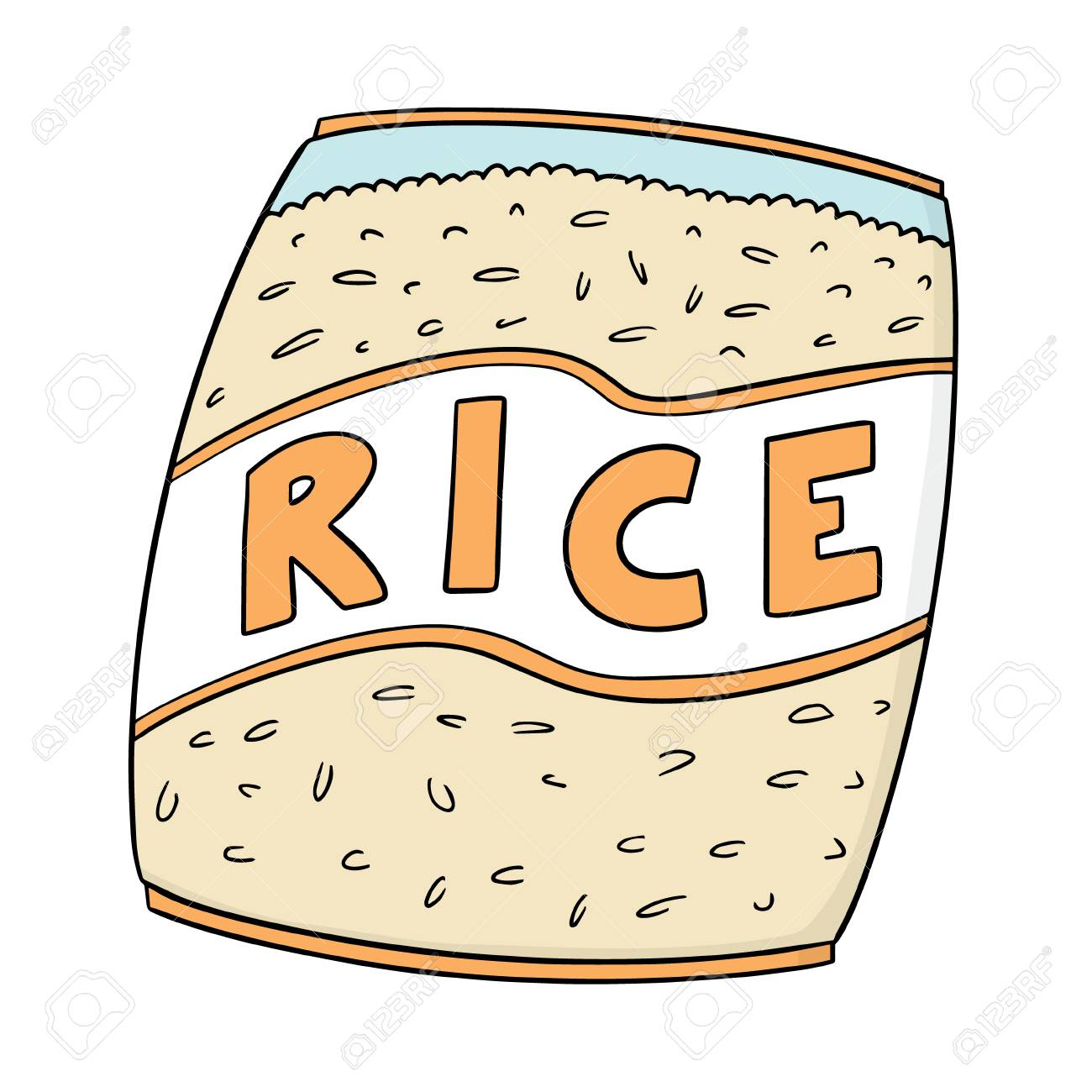 vector of rice bag.