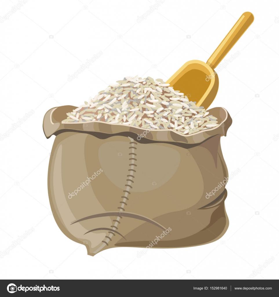 Clipart: rice bag.
