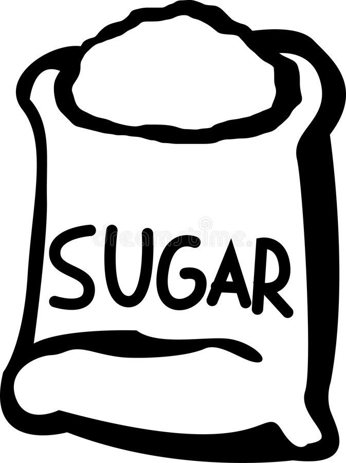 Sugar Bag Stock Illustrations.