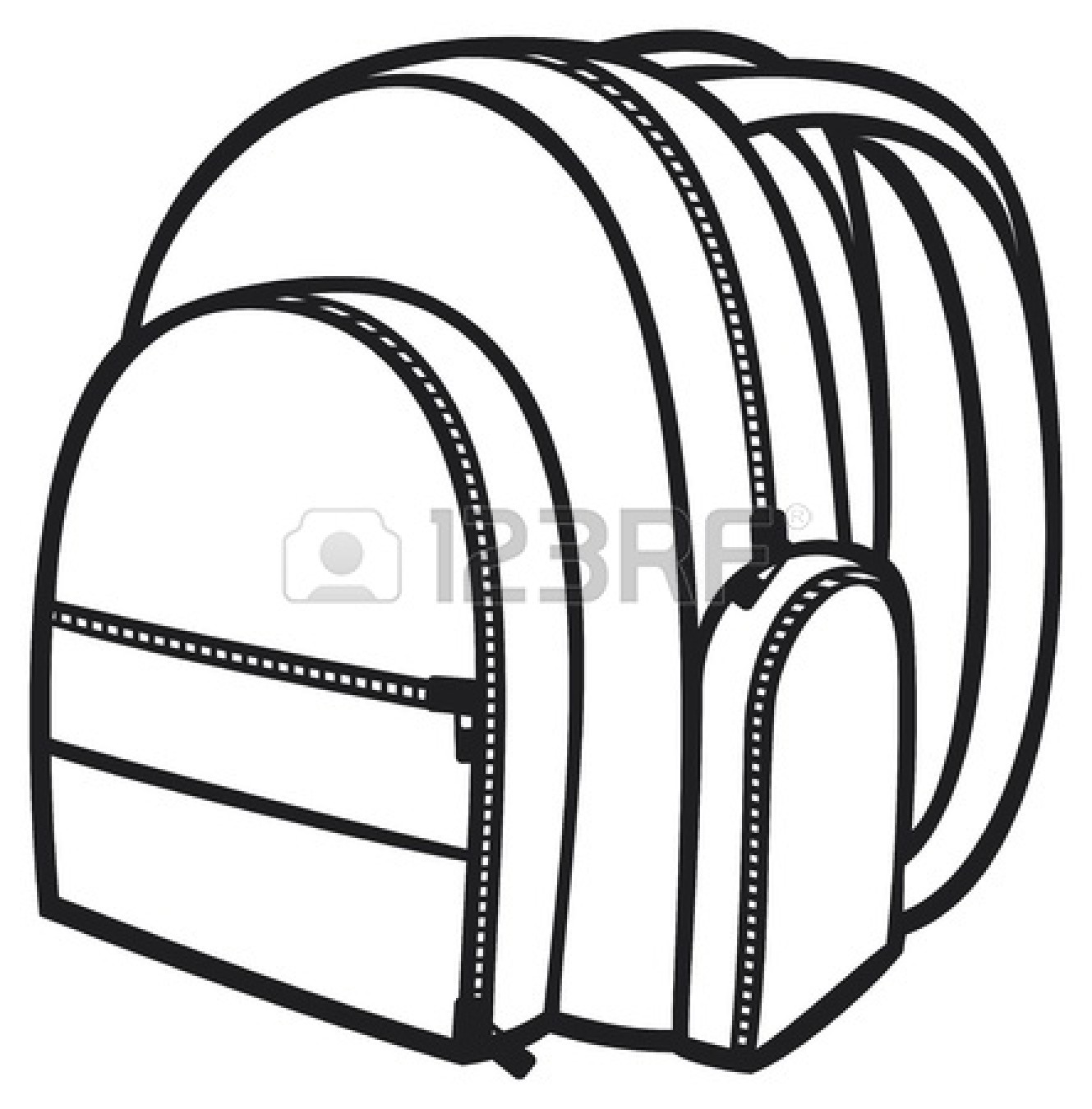 Clip Art Black And White Bag Clipart.