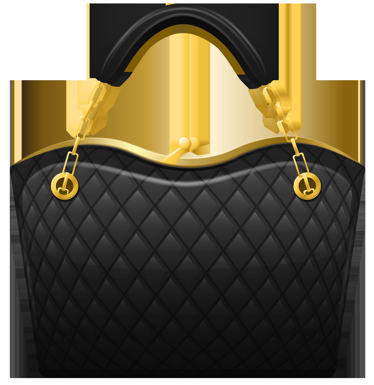 Black Handbag PNG Clip Art.