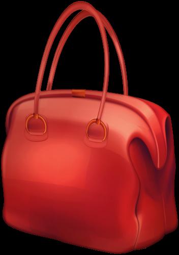 Red Bag PNG Clip Art.