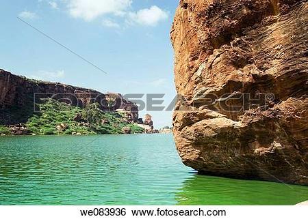 Stock Images of bagalkot, agastya, Badami, attraction, ancient.