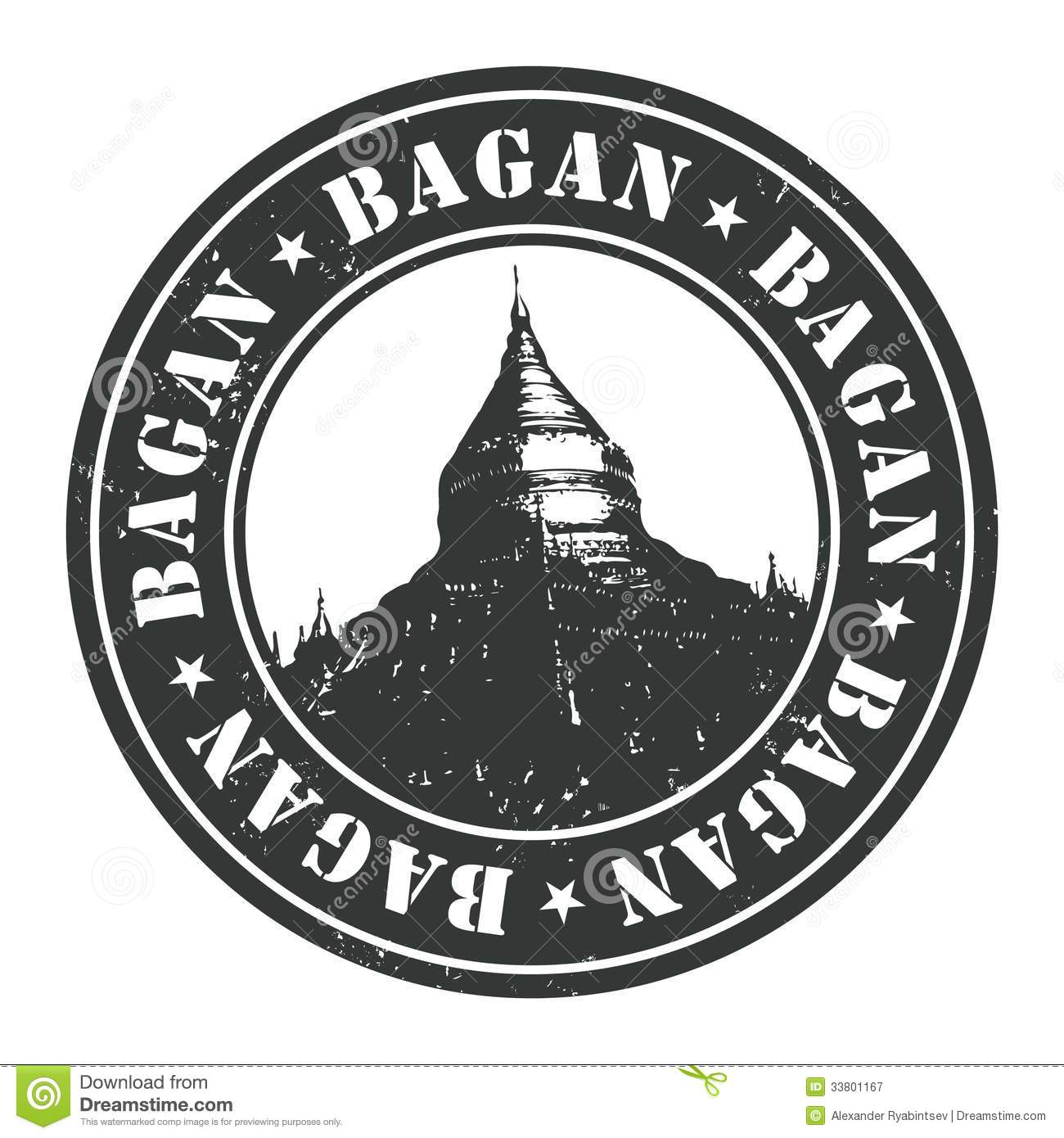Grunge Rubber Stamp With The Name Bagan Royalty Free Stock.