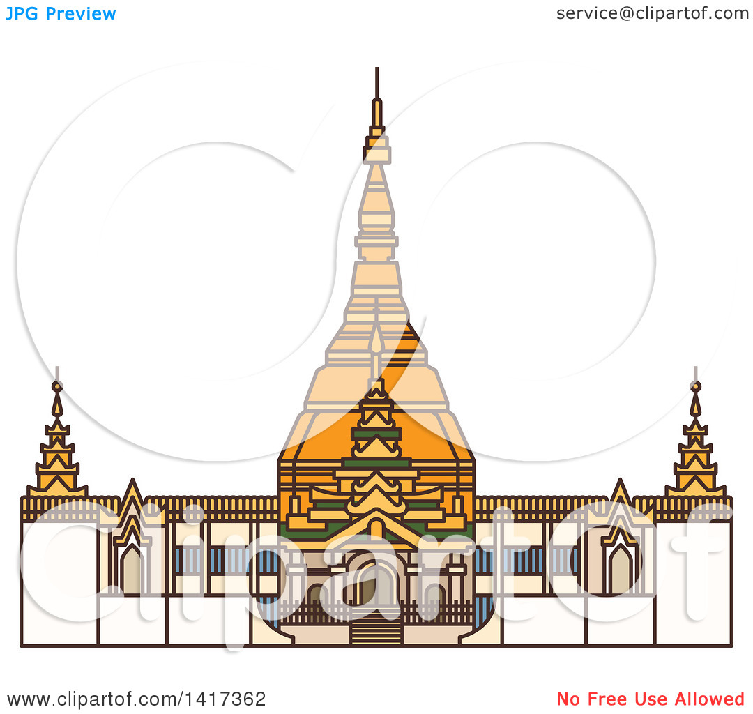 Clipart of a Burma Landmark, Bagan.