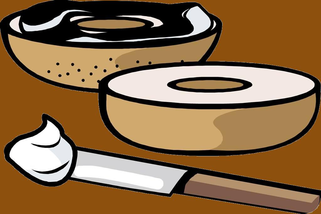 Bagel Lox Cream Pastrami Clip Art Transprent.
