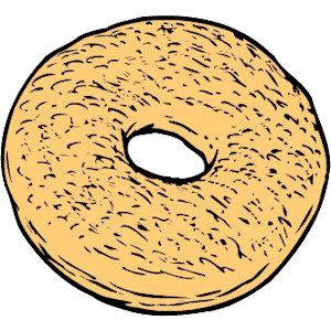 Bagel 2 clipart, cliparts of Bagel 2 free download (wmf, eps, emf.