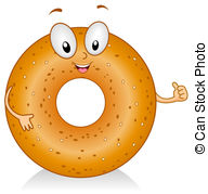 Bagel Illustrations and Clipart. 5,234 Bagel royalty free.