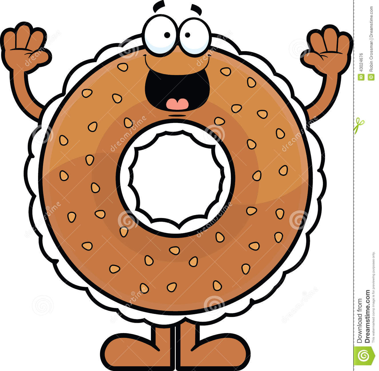 Free clipart bagel with cream cheese.