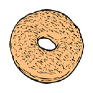 Bagel clipart free.