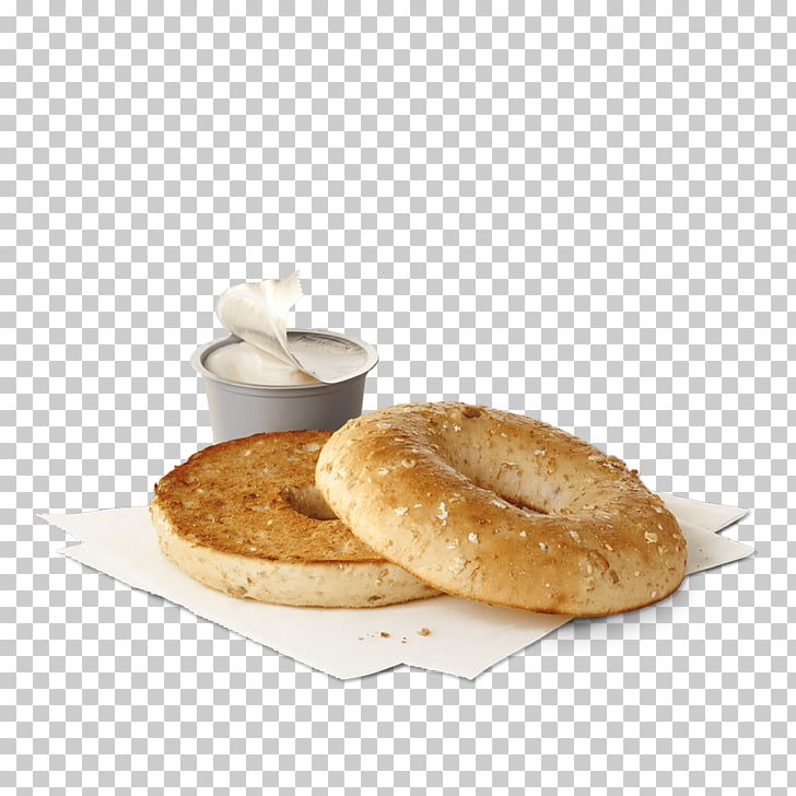 Bagel Bacon, egg and cheese sandwich Cream Breakfast Hash.