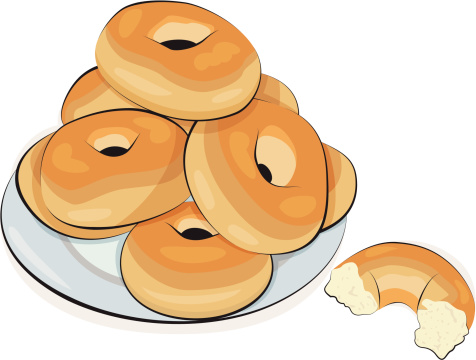 Free Clip Art Bagels And Coffee.