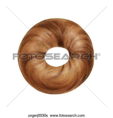 Stock Illustration of Cinnamon Bagel ungerj0030s.