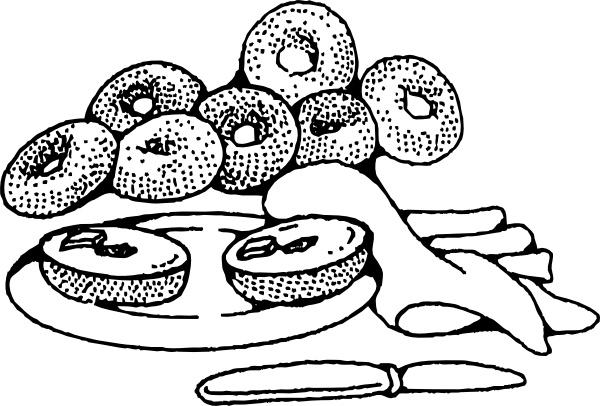 Bakery Breakfast Bagels clip art Free vector in Open office.