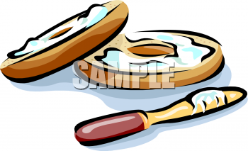 Bagels And Juice Clipart.