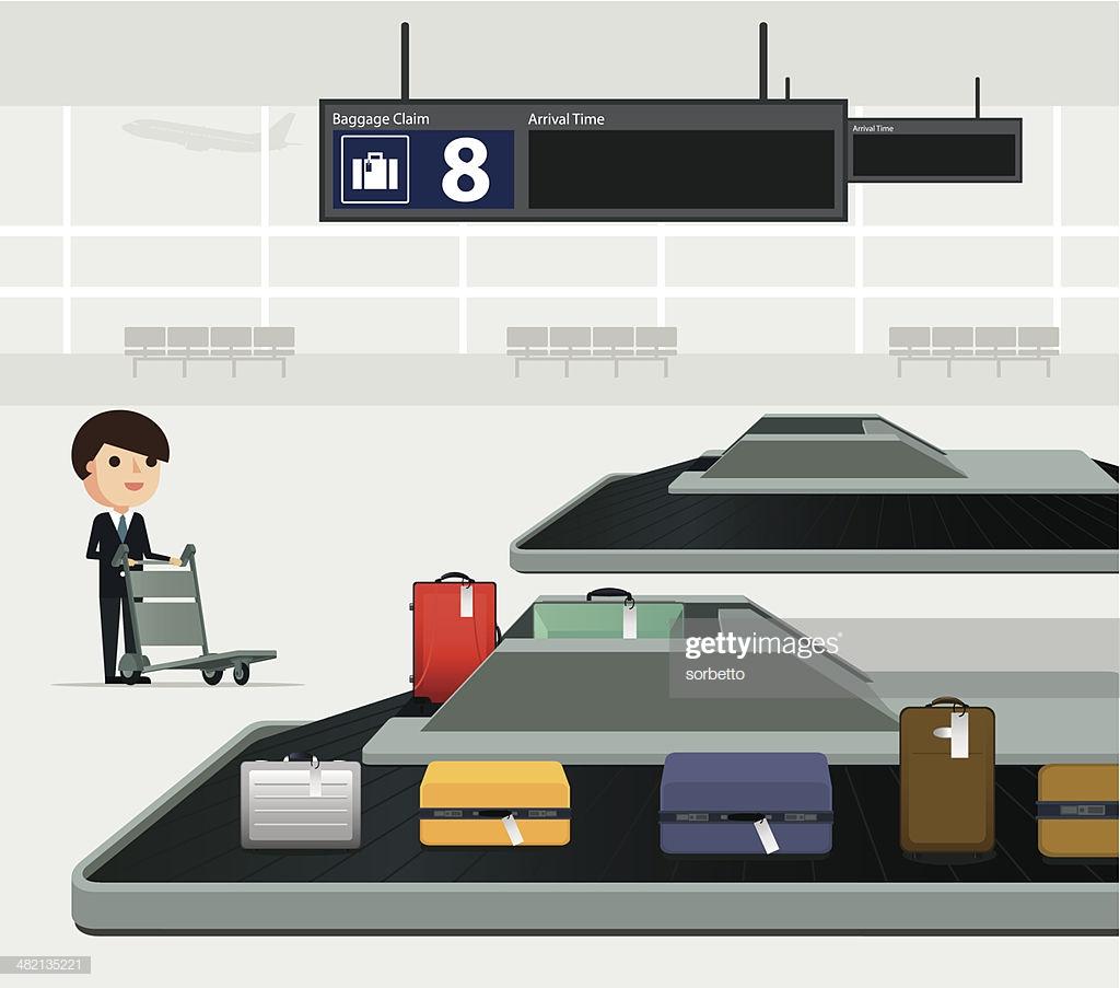 60 Top Baggage Claim Stock Illustrations, Clip art, Cartoons.