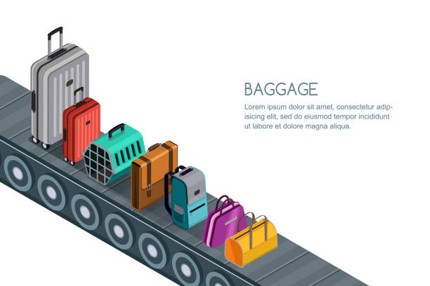 Best Baggage Claim Illustrations, Royalty.