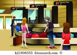 Baggage claim Clip Art Illustrations. 189 baggage claim clipart.