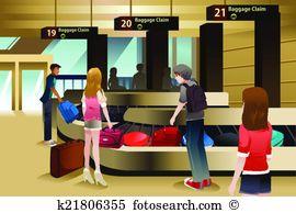Baggage claim Clip Art Illustrations. 189 baggage claim clipart.