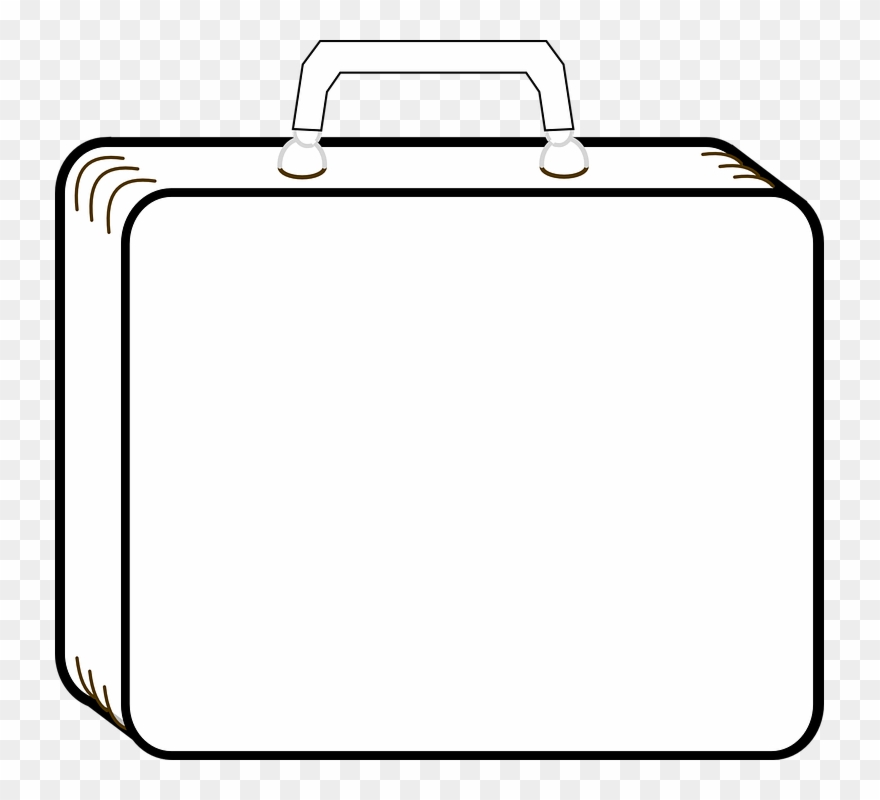 Download Luggage Outline Clipart Suitcase Baggage Clip.