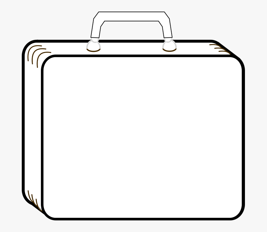 Suitcase Luggage Outline Travel.