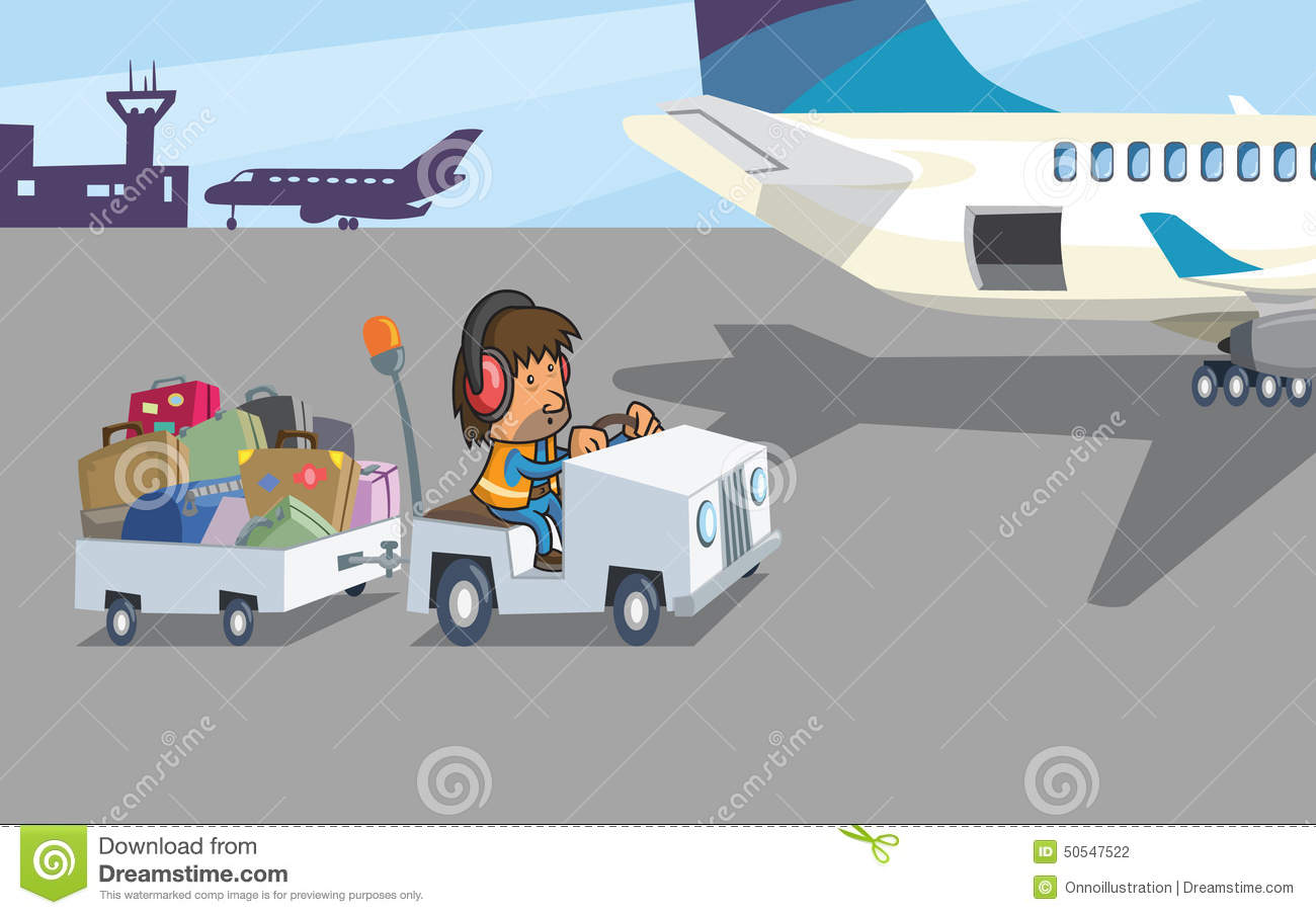Baggage handler clipart.
