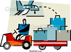 Baggage handler at the airport Vector Clip art.