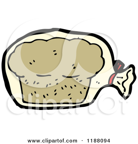 Cartoon of a Bagged Loaf of Bread.