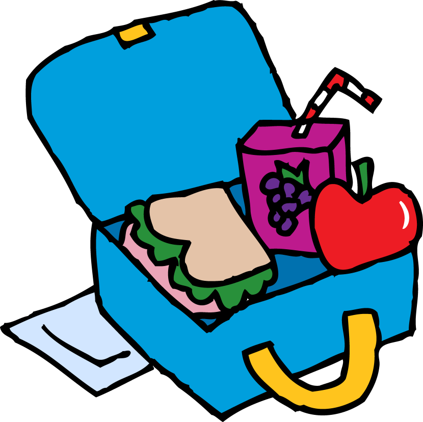 Bagged lunch clipart.