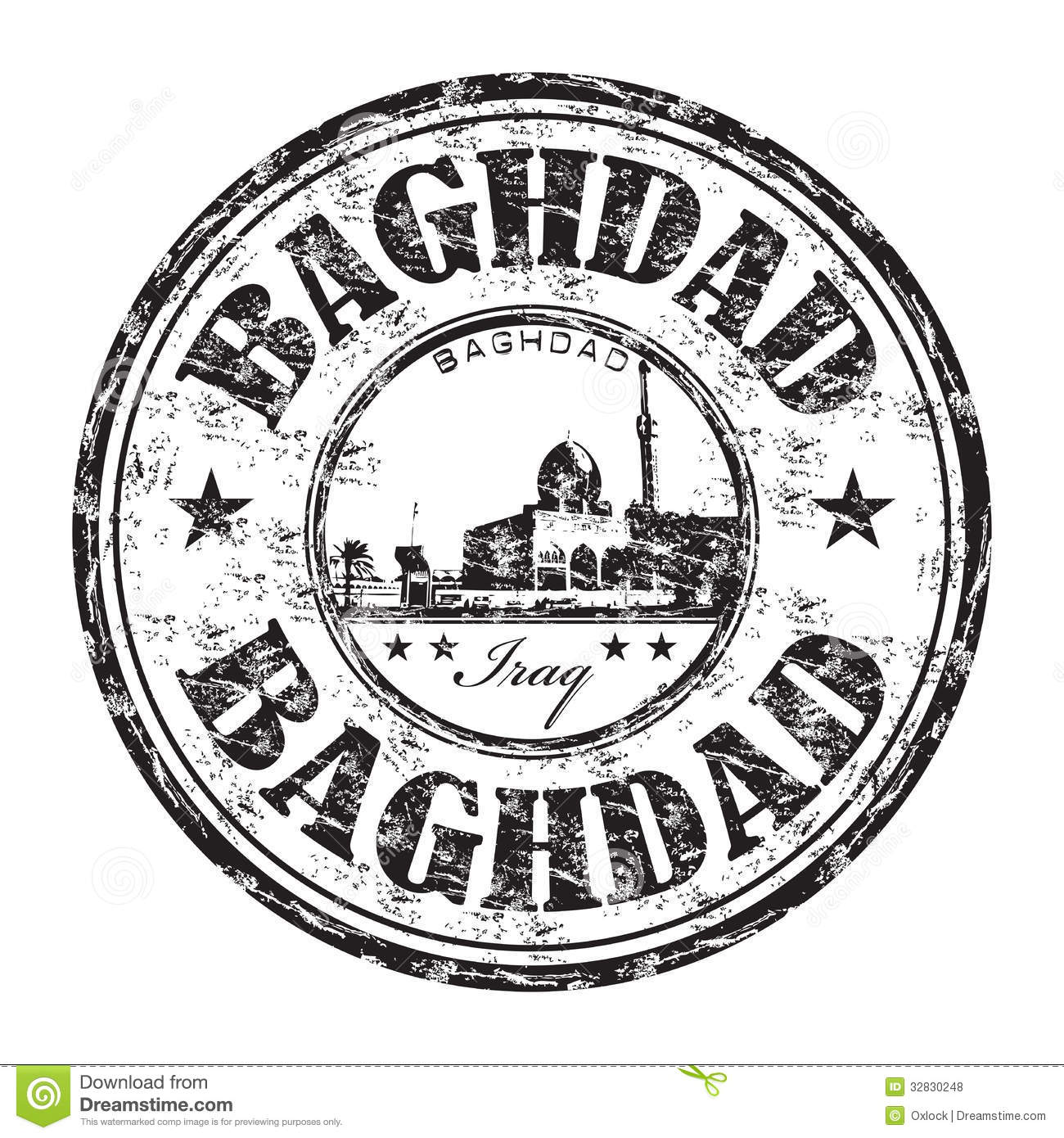 Baghdad Grunge Rubber Stamp Royalty Free Stock Photos.
