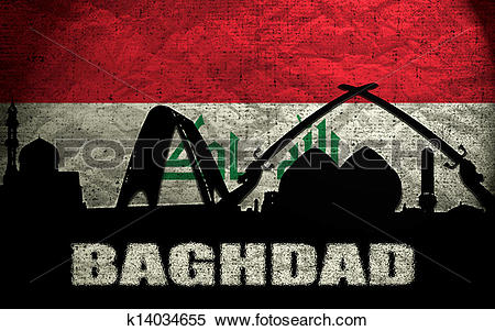 Stock Image of View of Baghdad k14034655.