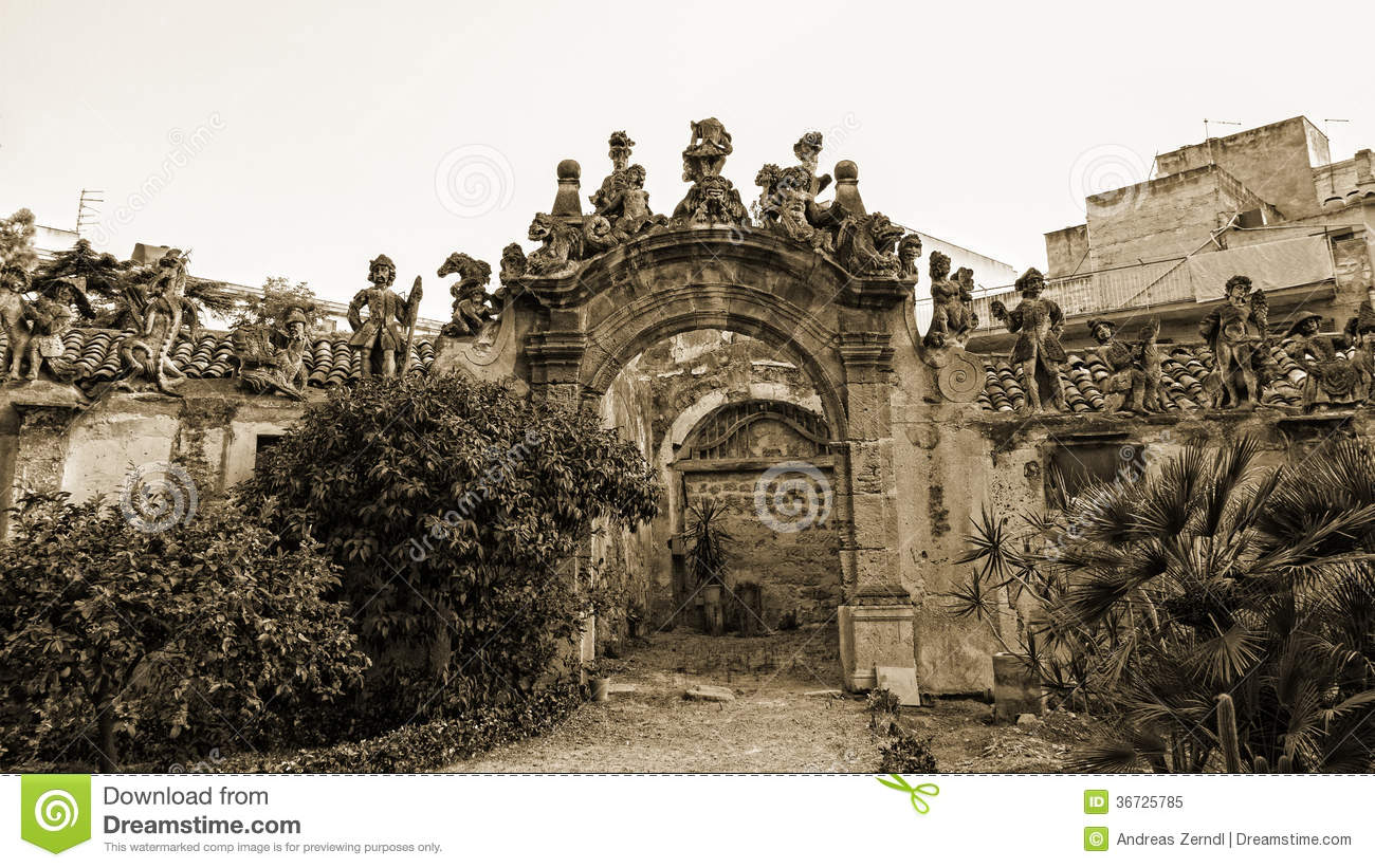 Bagheria Palermo Villa Palagonia Editorial Image.