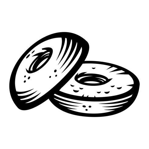Bagel vector icon.