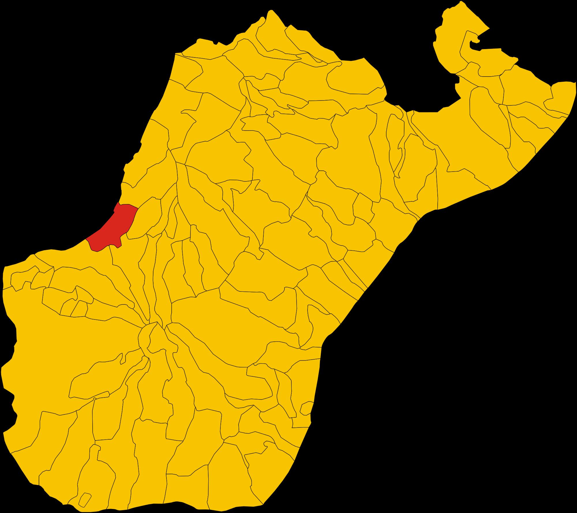 File:Map of comune of Bagnara Calabra (province of Reggio Calabria.