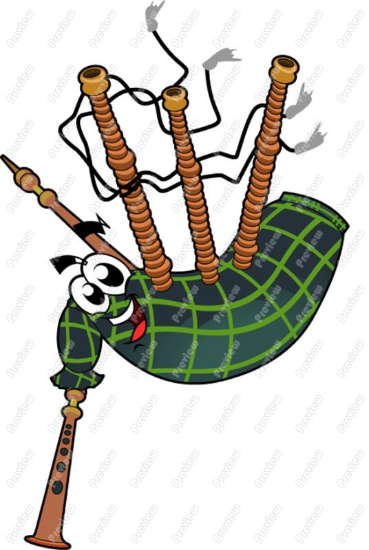 Bagpipe Clipart.